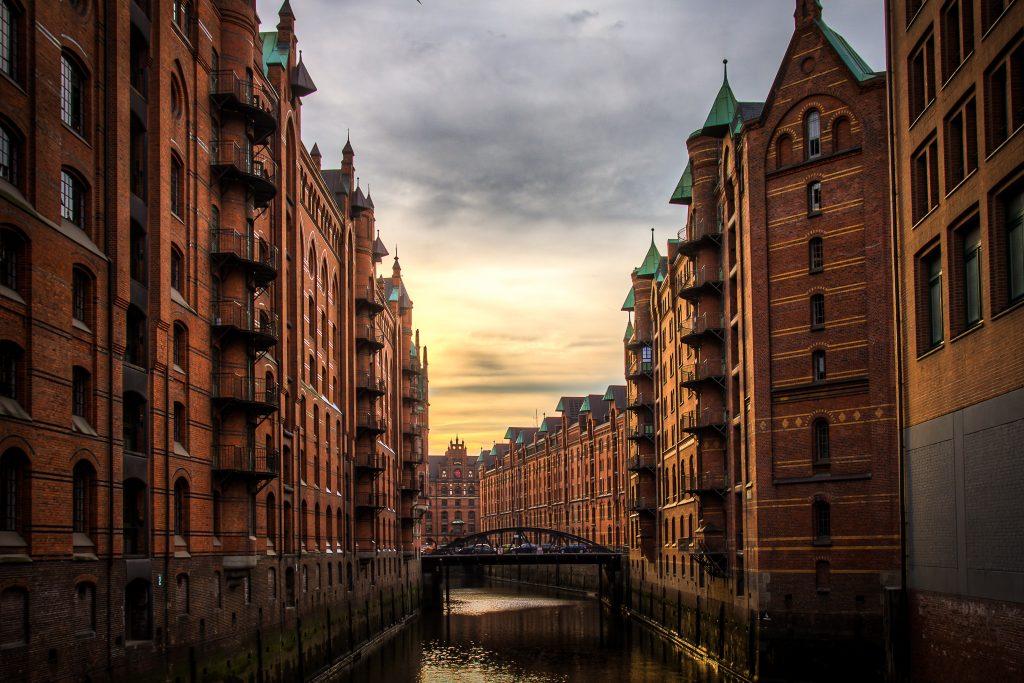 Kanal in Hamburg Mitte
